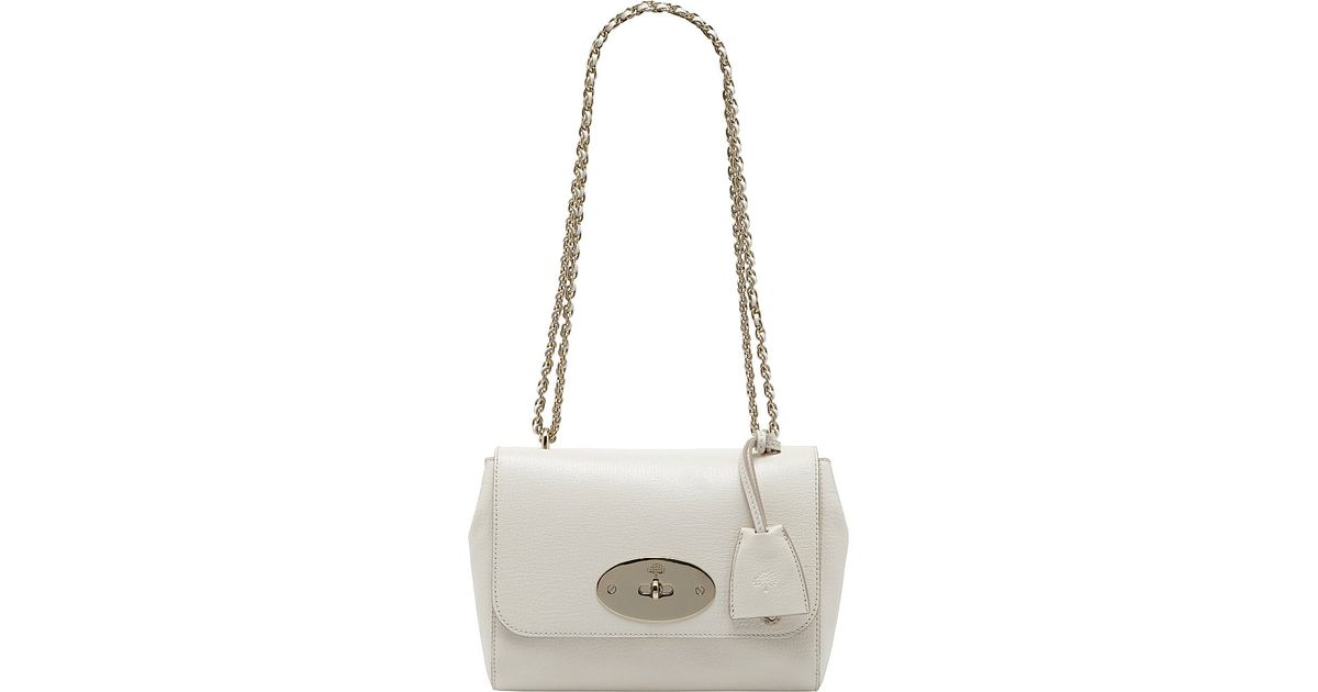 f8b60b1d05bf Mulberry Lily Glossy Goat Leather Bag in White - Lyst