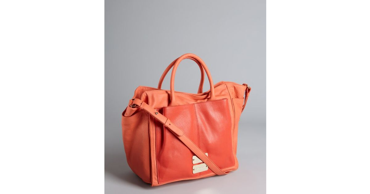 4b34a55696 Lyst - See By Chloé Capucine and Red Leather Patch Pocket Shoulder Bag in  Red