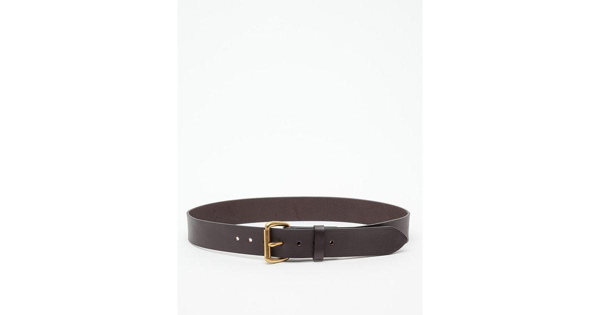 filson bridle leather belt in black lyst