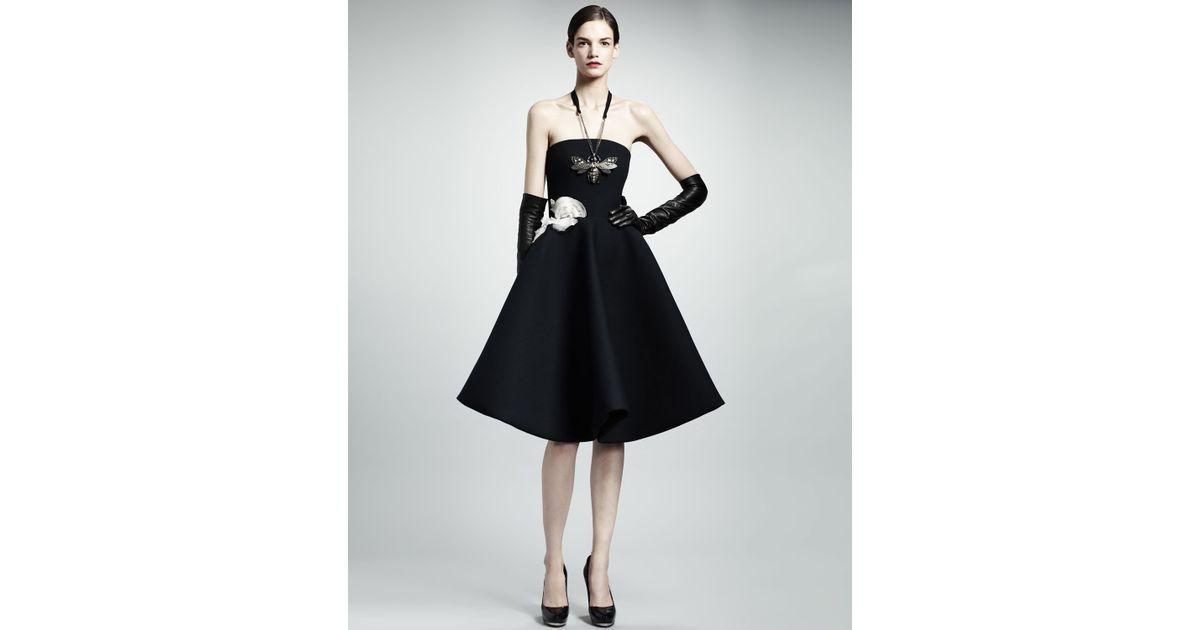 Lanvin Black Strapless Cocktail Dresses