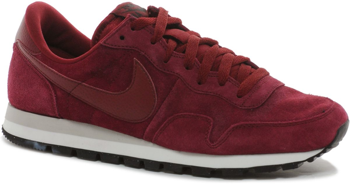 676df10f17ac Lyst - Nike Air Pegasus 83 Suede Trainers in Red for Men