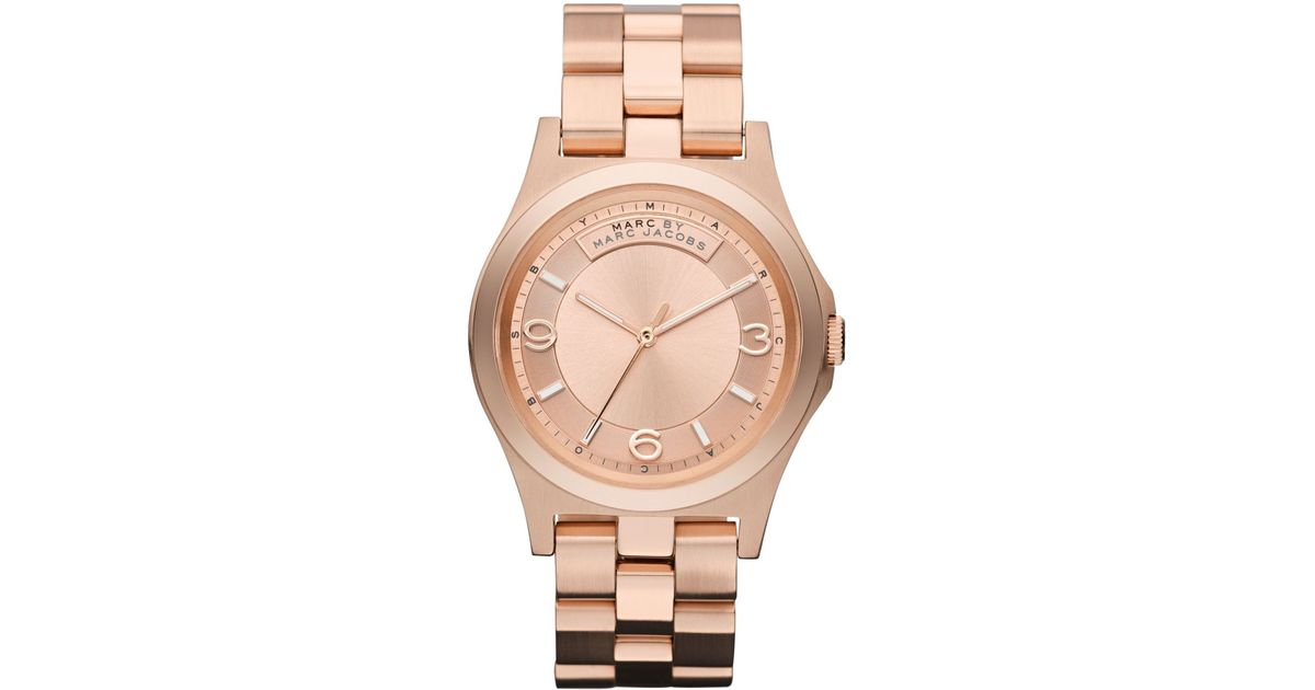 marc by marc jacobs baby dave mens watch in metallic for men lyst
