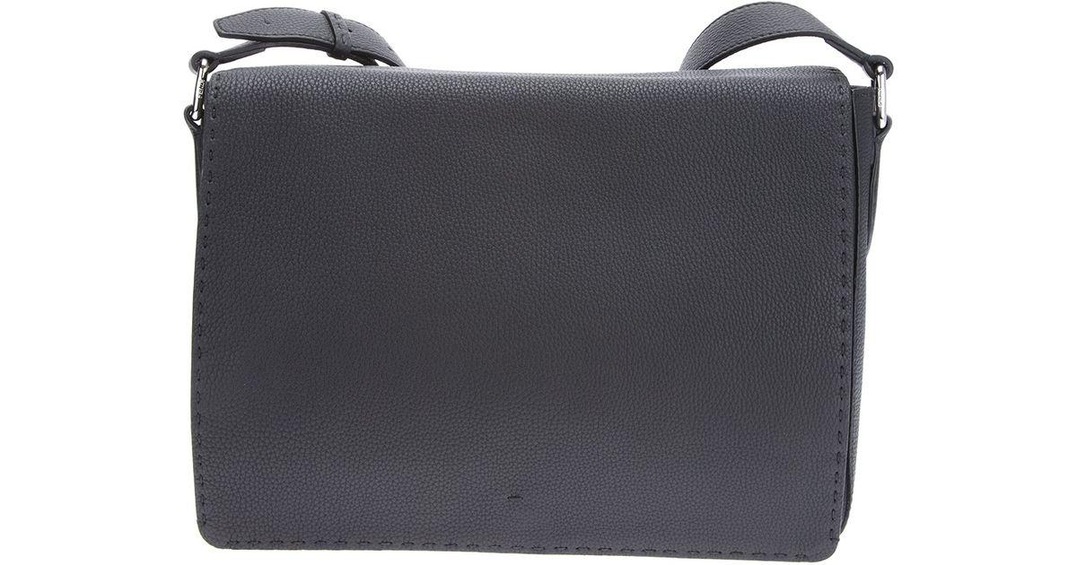 546b0ccebc8 Lyst - Fendi Selleria Messenger Bag in Black for Men