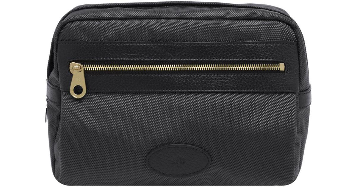 Lyst - Mulberry Henry Wash Bag in Black for Men df8eb2128379c