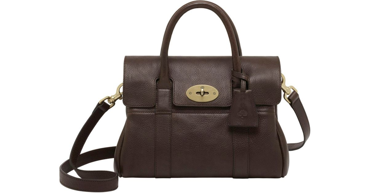 e509ef1ad8 ... new arrivals lyst mulberry small bayswater leather satchel in brown  save 28.879999999999995 108d6 a58ae