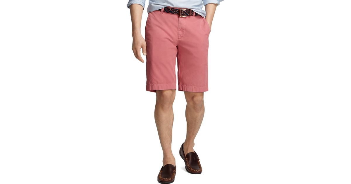 73e19f610a Lyst - Brooks Brothers Garmentdyed Plainfront 11 Twill Bermuda Shorts in  Pink for Men