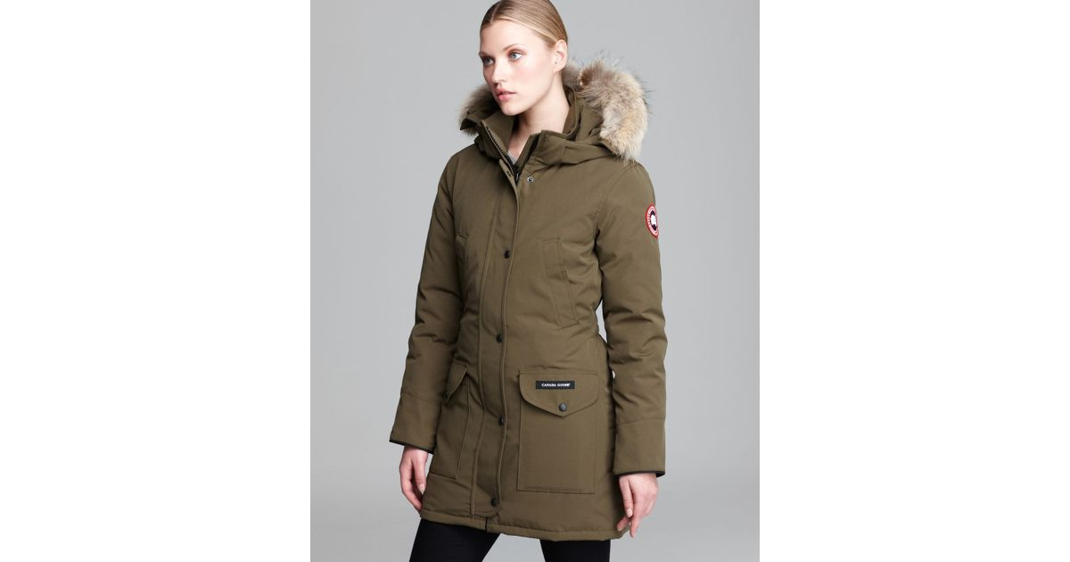 Canada Goose authentic - Canada goose Trillium Parka in Green (Military Green) | Lyst