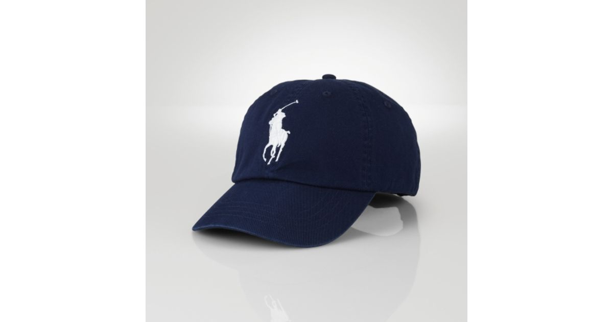 7bb0e6c4395 ... inexpensive lyst polo ralph lauren wimbledon big pony sports cap in  blue for men 15bef 47a10