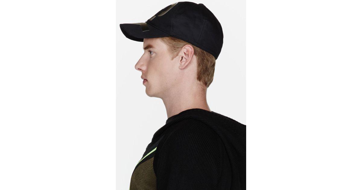 28c5ea9f3 Lyst - Y-3 Black Patent Logo Baseball Cap in Black for Men