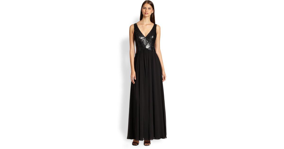 Aidan mattox lace side panel dress