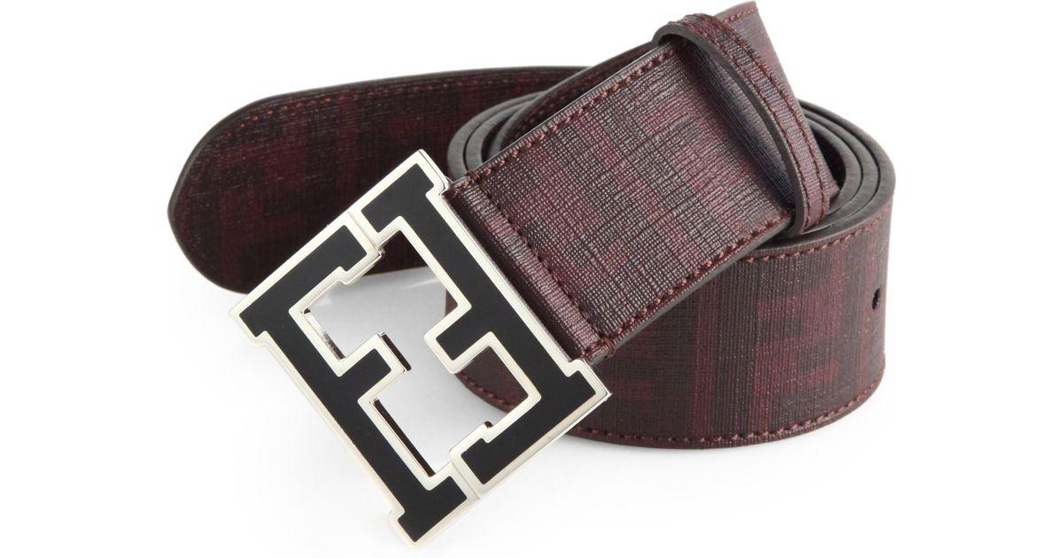 55fd750b68 ... where to buy lyst fendi logo college belt in purple for men 3bfd0 fbc8d