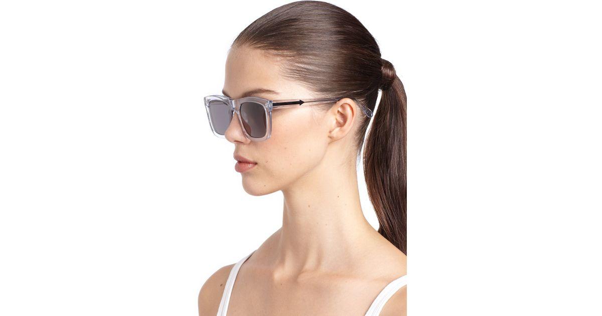 46007a7d5b Karen Walker Deep Freeze Square Sunglasses - Lyst