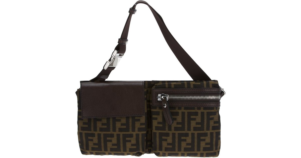 fc8e0b6706 ... ireland fendi monogram bum bag in brown lyst 016df 91f7d