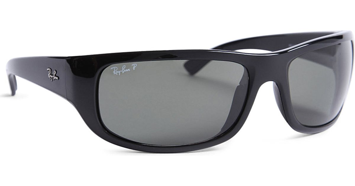 6d6e16d1d ... wayfarer folding classic dobrável rb4105 sale ray ban polarized  wraparound sunglasses in black for men lyst a8ca3 27e25 coupon code for  oculos ...