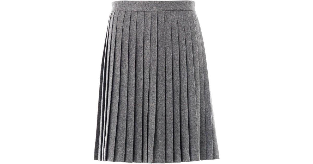 3b73c636fadea6 Freda Bella Wool Pleated Skirt in Gray - Lyst