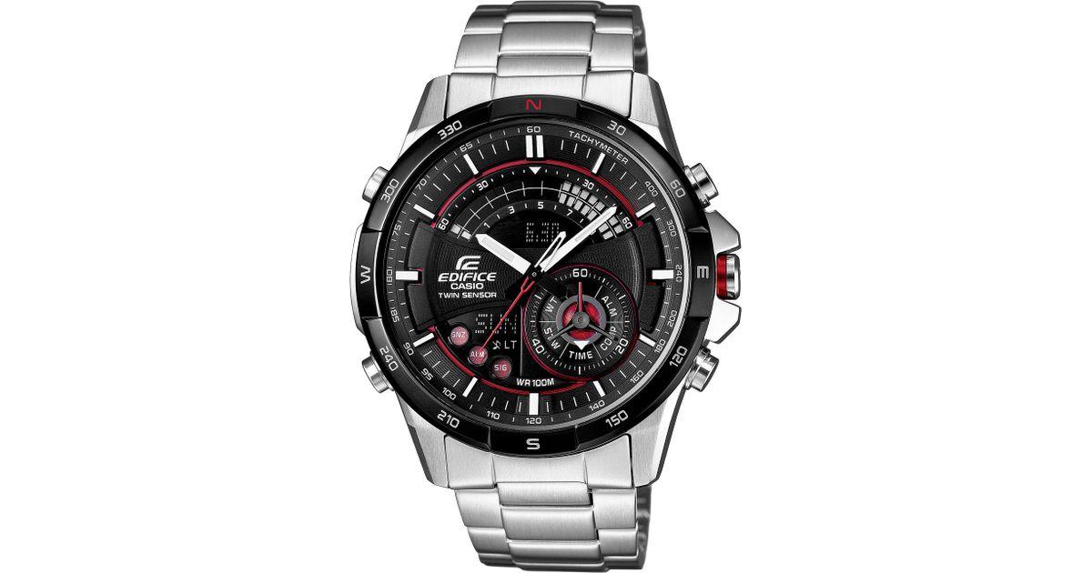 927720606970 G-Shock Casio Watch Mens Analogdigital Edifice Twin Sensor Stainless Steel  Bracelet 50x47mm Era200db1a in Metallic for Men - Lyst