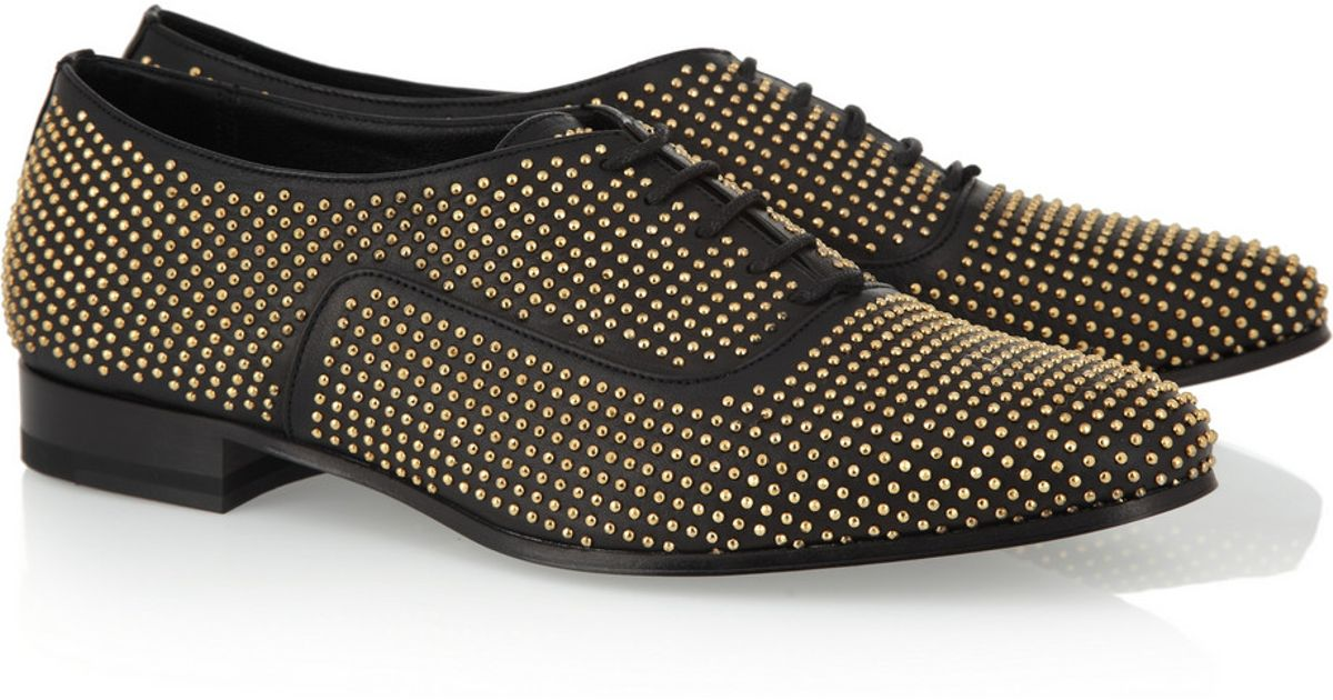 cheap sale low shipping fee Saint Laurent Studded Leather Oxfords sale 2014 unisex DFeLNXLfY7