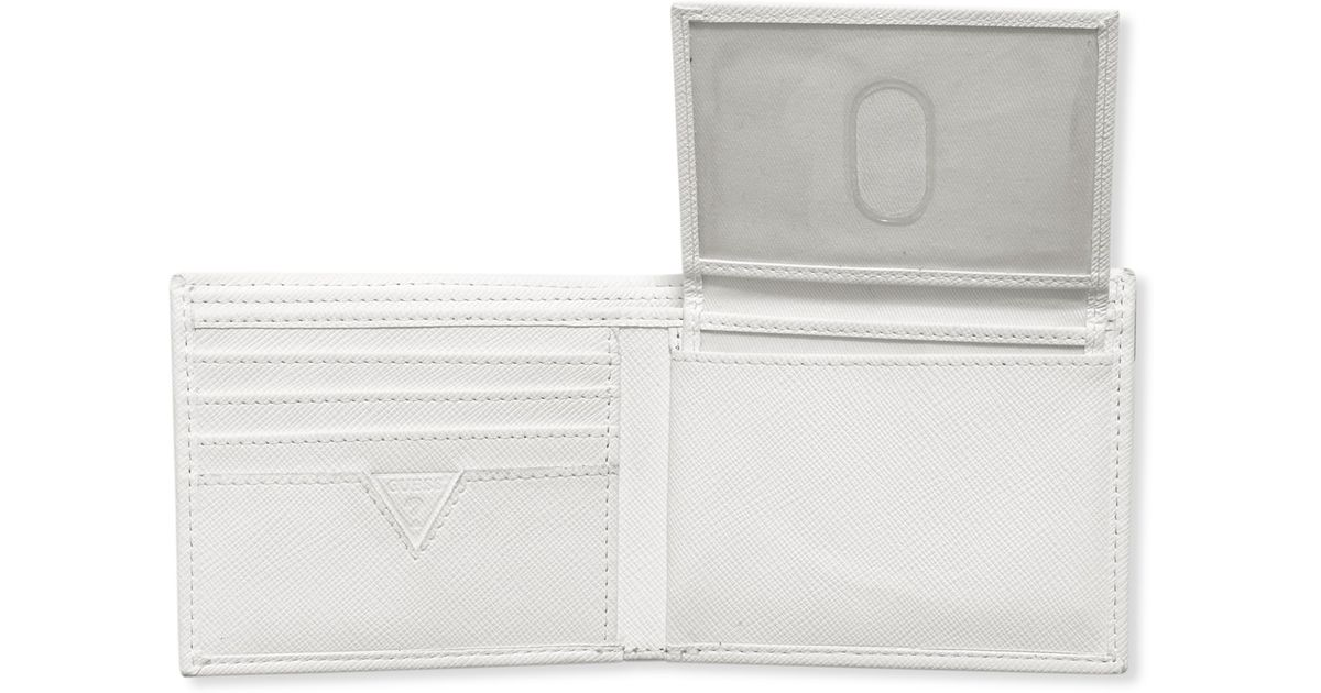 2cefc14507 Lyst - Guess Wallets Sarasota Passcase Wallet in White for Men