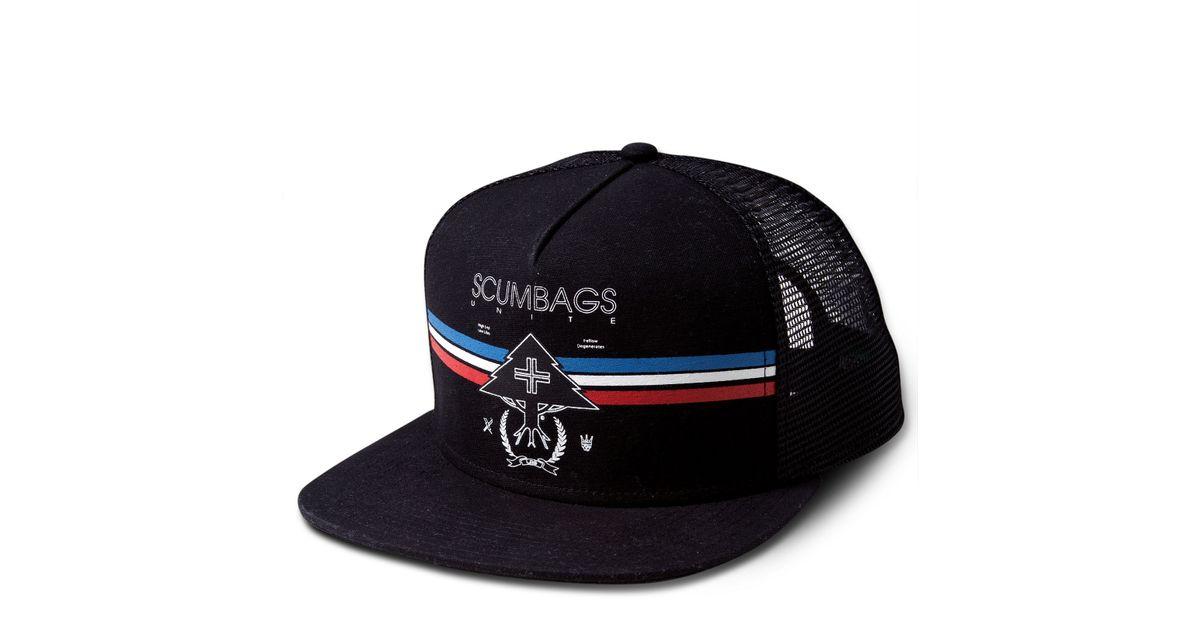 89e8058768e Lyst - LRG Scum Bags Unite Snap Back Hat in Black for Men