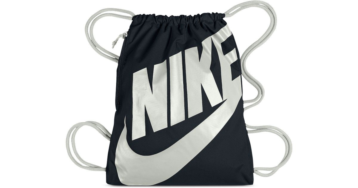 df9de2c39c Lyst - Nike Heritage Gym Sack in Black for Men