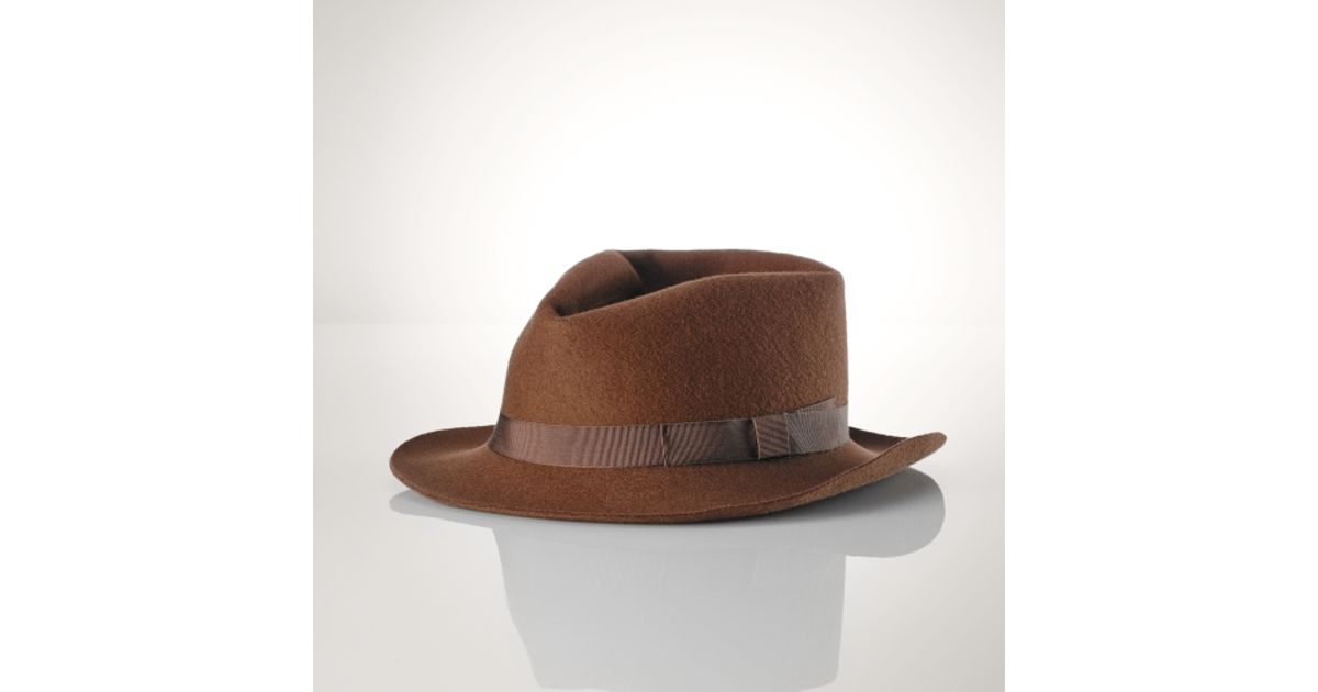 Lyst - Polo Ralph Lauren Wool Felt Derby Hat in Brown for Men a37202ba4ac7