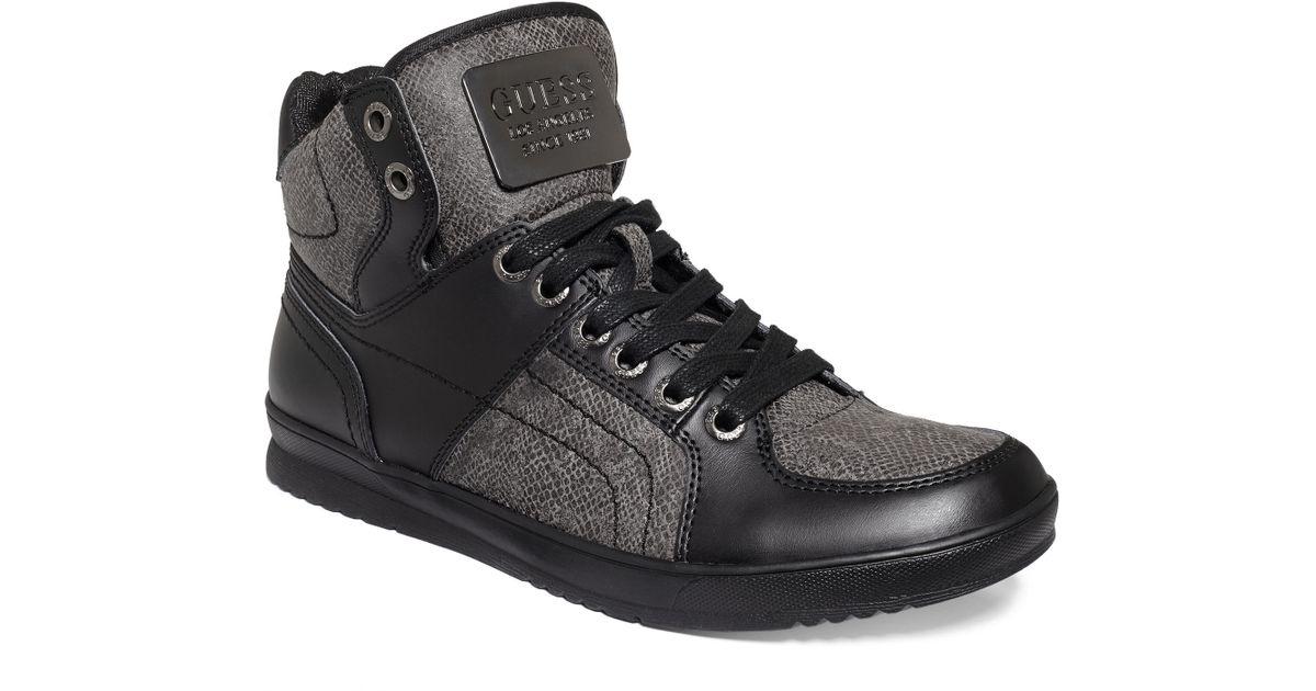 Guess Mens Shoes Mat Hi Top Sneakers