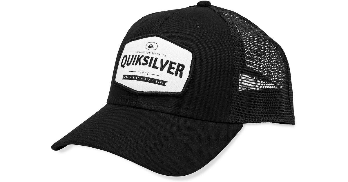 5195d076d11 ... shopping lyst quiksilver please hold patch trucker hat in black for men  33b03 11f8d