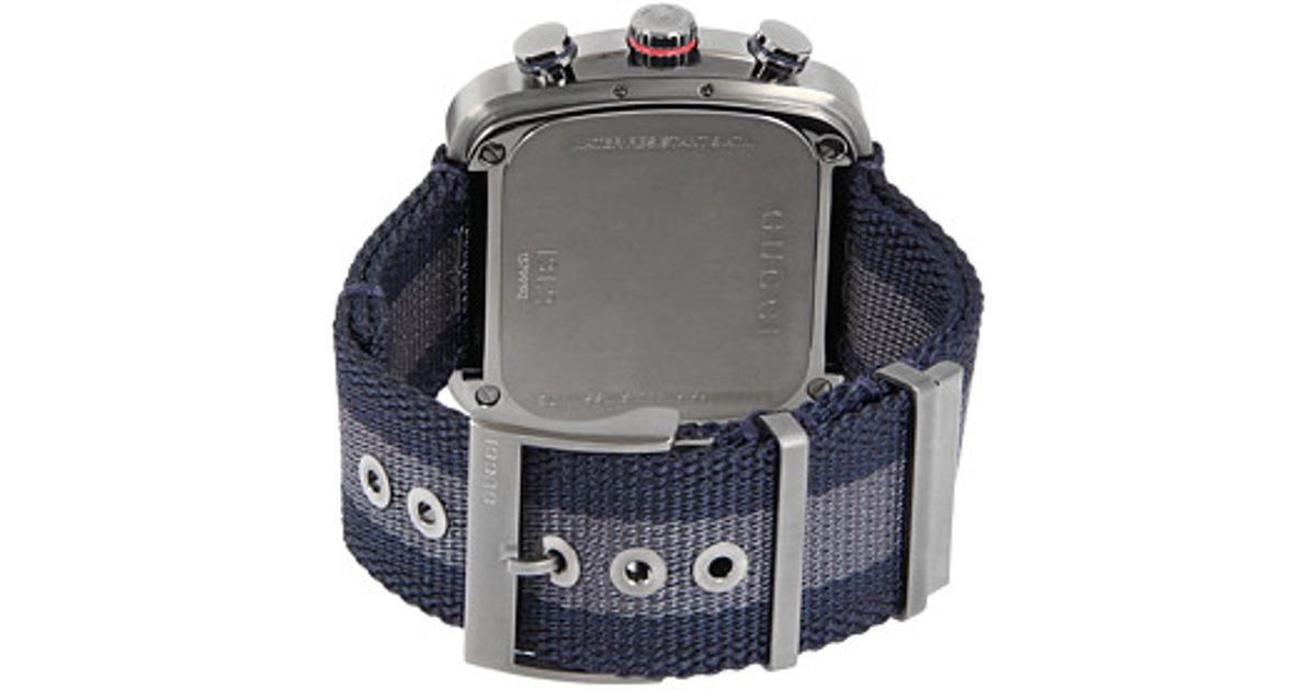 a0faee8e544 Lyst - Gucci Coupe 44mm Chronograph Nylon Strap Watch-ya131203 in Gray for  Men