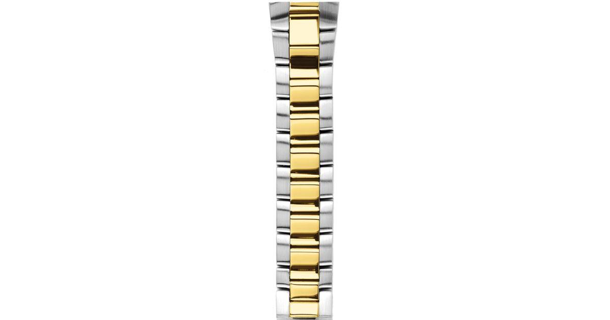 Lyst Philip Stein Two Tone Gold Plated Bracelet Watch Strap 22mm In Metallic