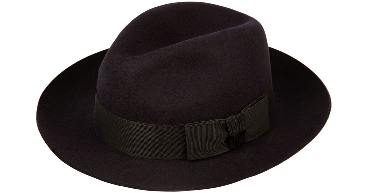 d0d3dcd117724 Lyst - Christys  Navy Grosvenor Fedora Hat in Blue