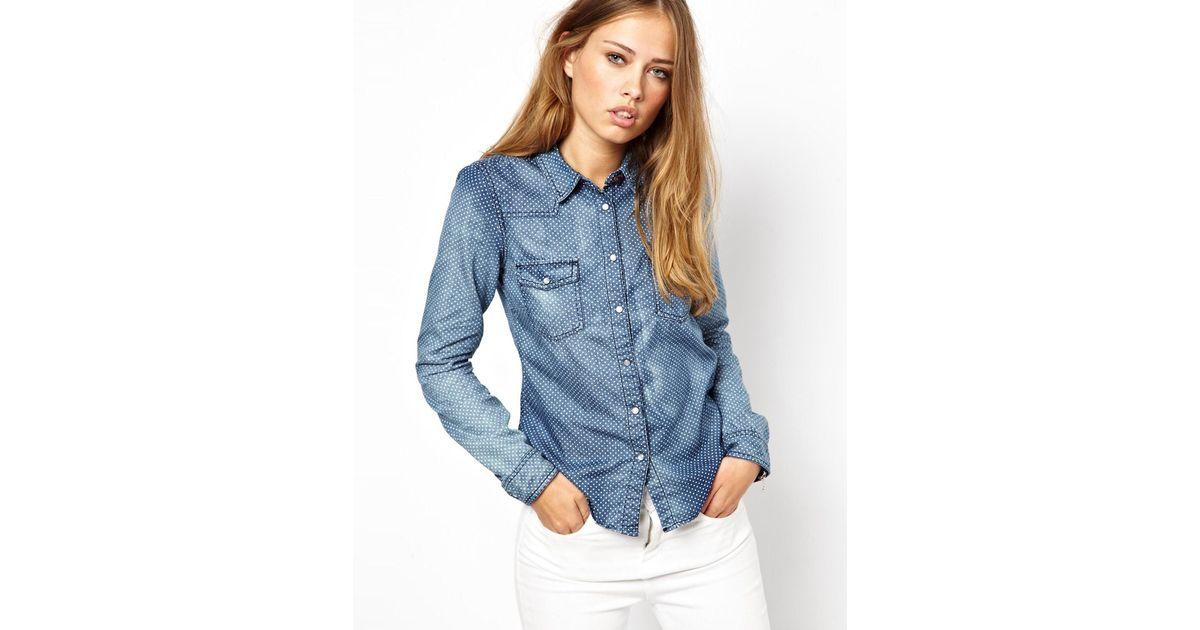 3d5e3c12 ASOS Hilfiger Denim Denim Shirt in Blue - Lyst