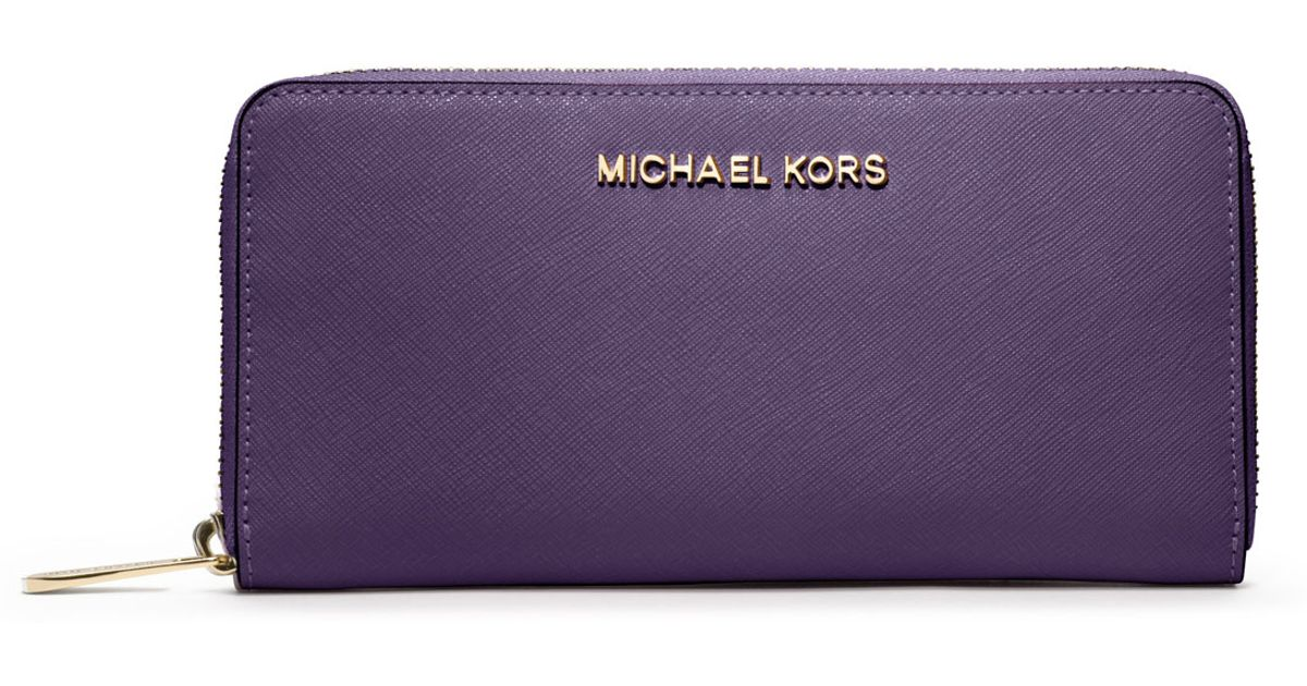 b870a913ad2470 Michael Kors Saffiano Wallet Purple. Michael Kors Jet Set Travel Saffiano  Leather ...