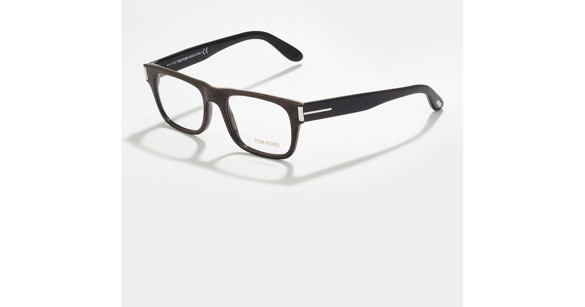 524a4345b9a Lyst - Tom Ford Unisex Semi Squared Fashion Glasses Brown in Brown for Men