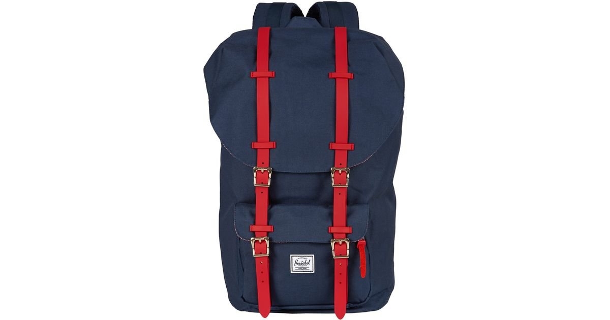 abfdc767b2bc Lyst - Herschel Supply Co. Navy Little America Rubber Backpack in Blue for  Men