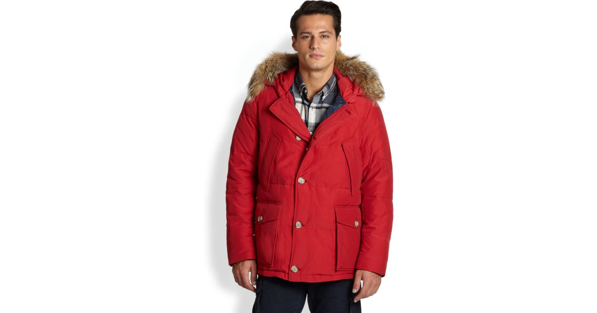 Woolrich Arctic Anorak Red