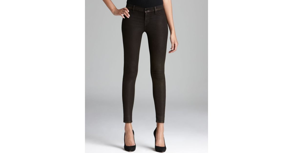 J brand 815 coated mid rise skinny jeans