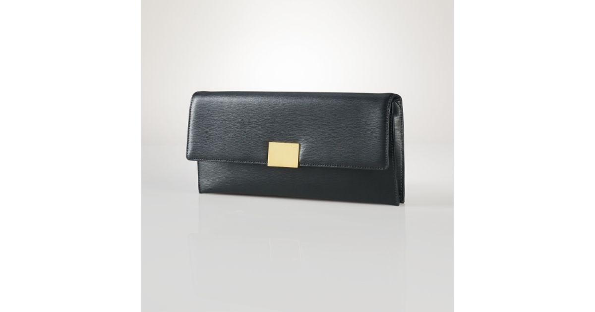 Lyst - Lauren by Ralph Lauren Newbury Leather Clutch in Black 2f985f88d4