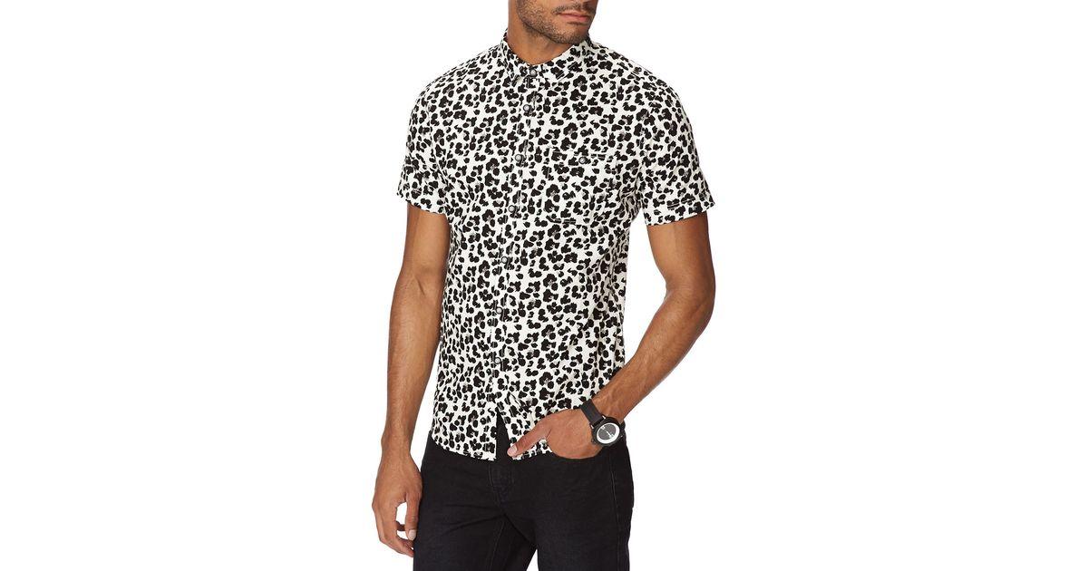 c4091b036d Lyst - Forever 21 Slim Fit Animal Print Shirt in White for Men