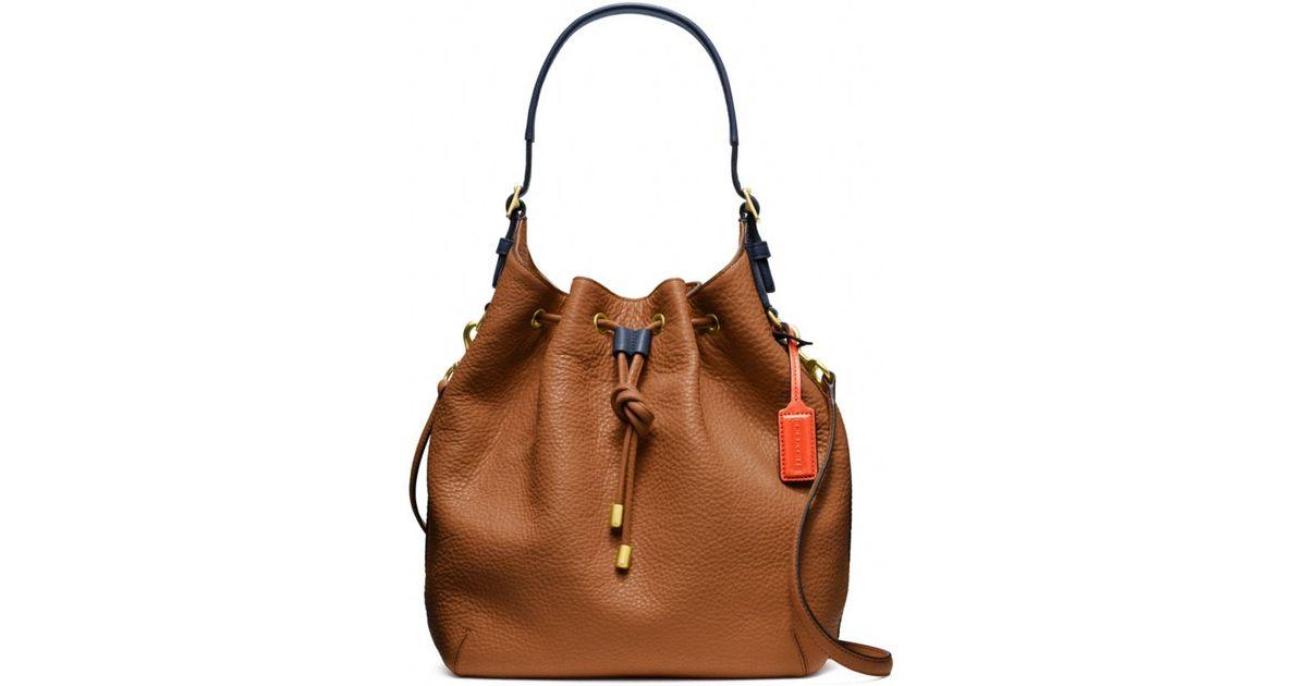 Coach Soft Legacy Dream Pebbled Leather Drawstring Shoulder Bag in ...