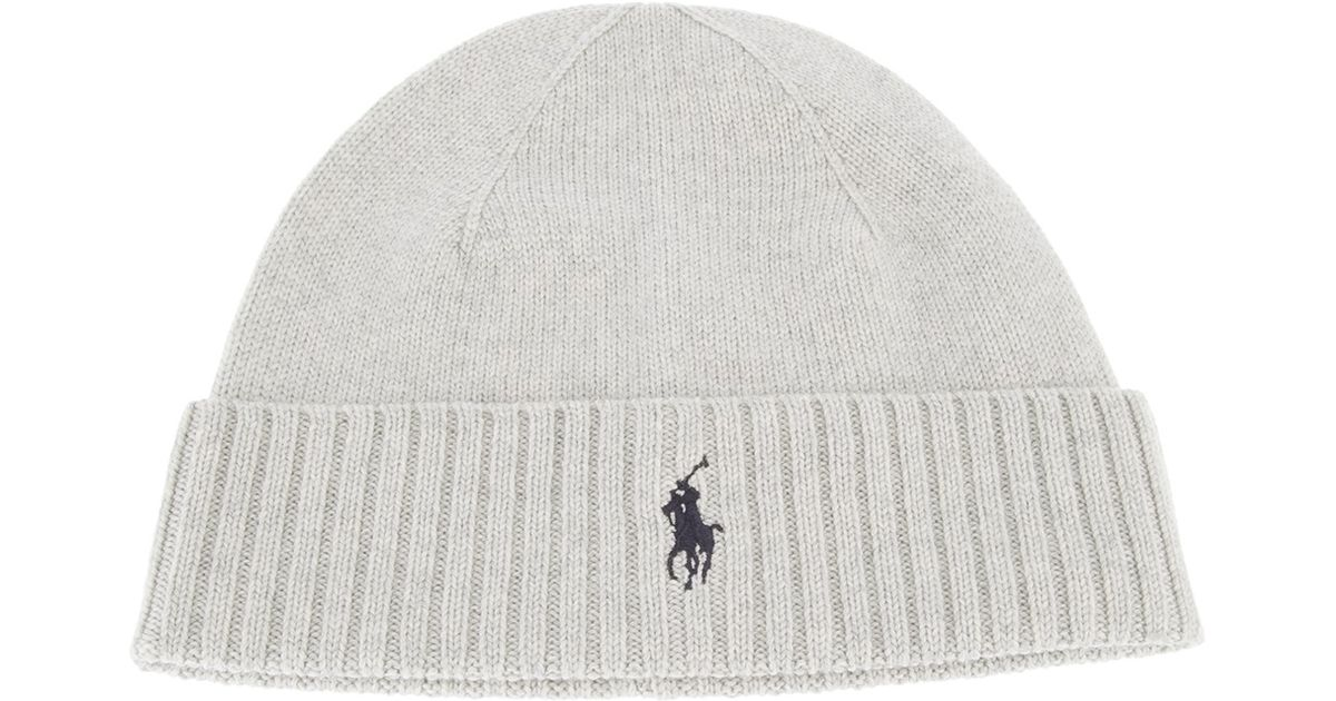 235490be21d Lyst - Polo Ralph Lauren Merino Fold Cap in White for Men