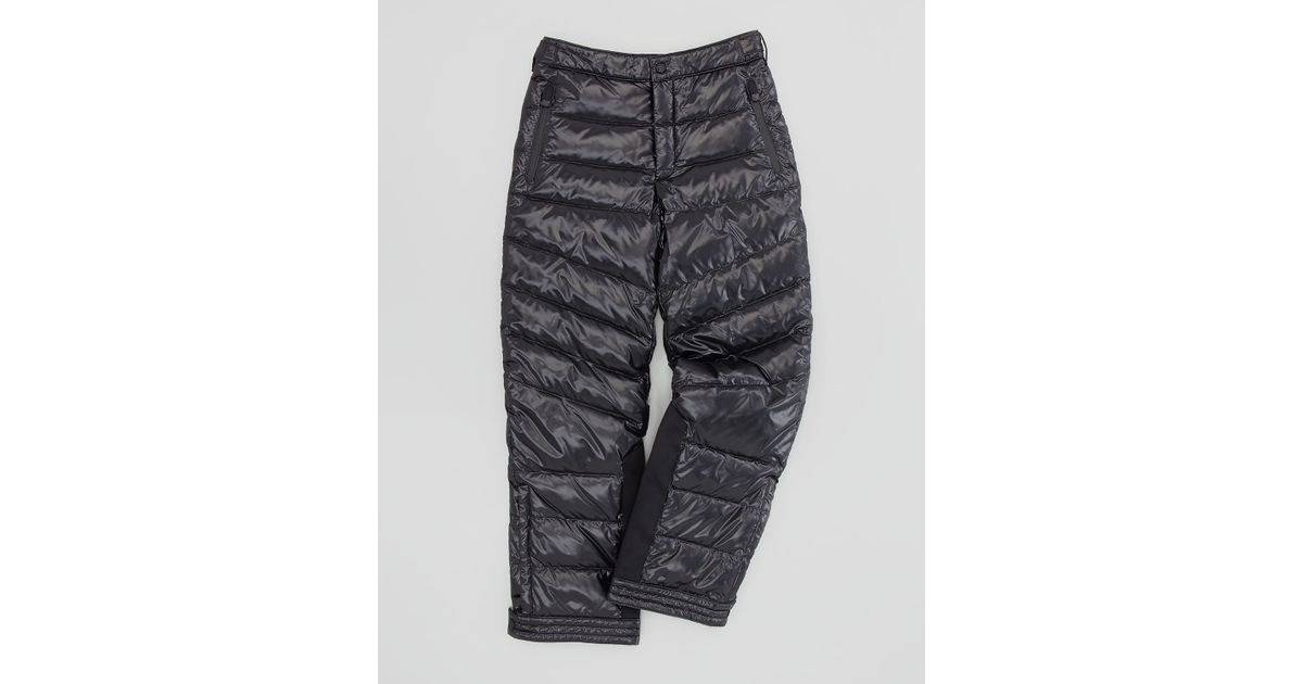 5a38608eba Lyst - Moncler Quilted Nylon Ski Pants Black Sizes 26 in Black