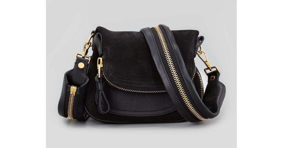 07863d587e Lyst - Tom Ford Jennifer Suede Mini Crossbody Bag Black in Black