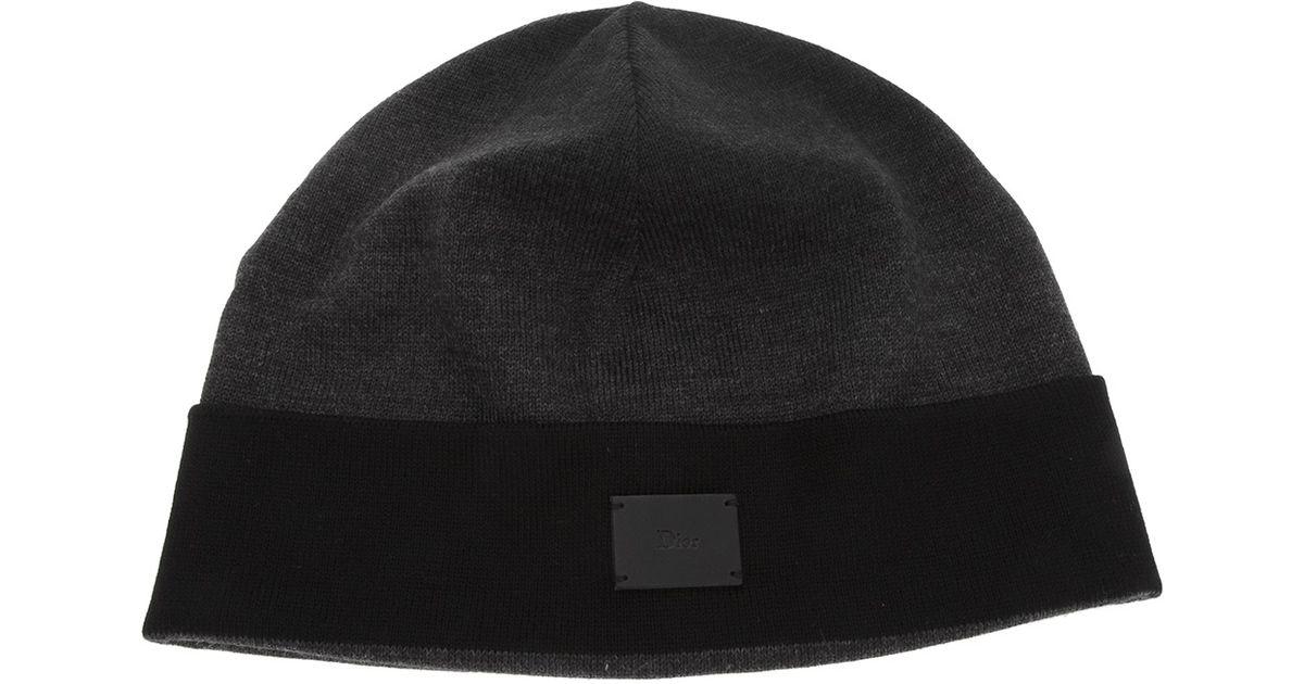 1bf70e325c1 Lyst - Dior Dior Beanie Hat in Black for Men