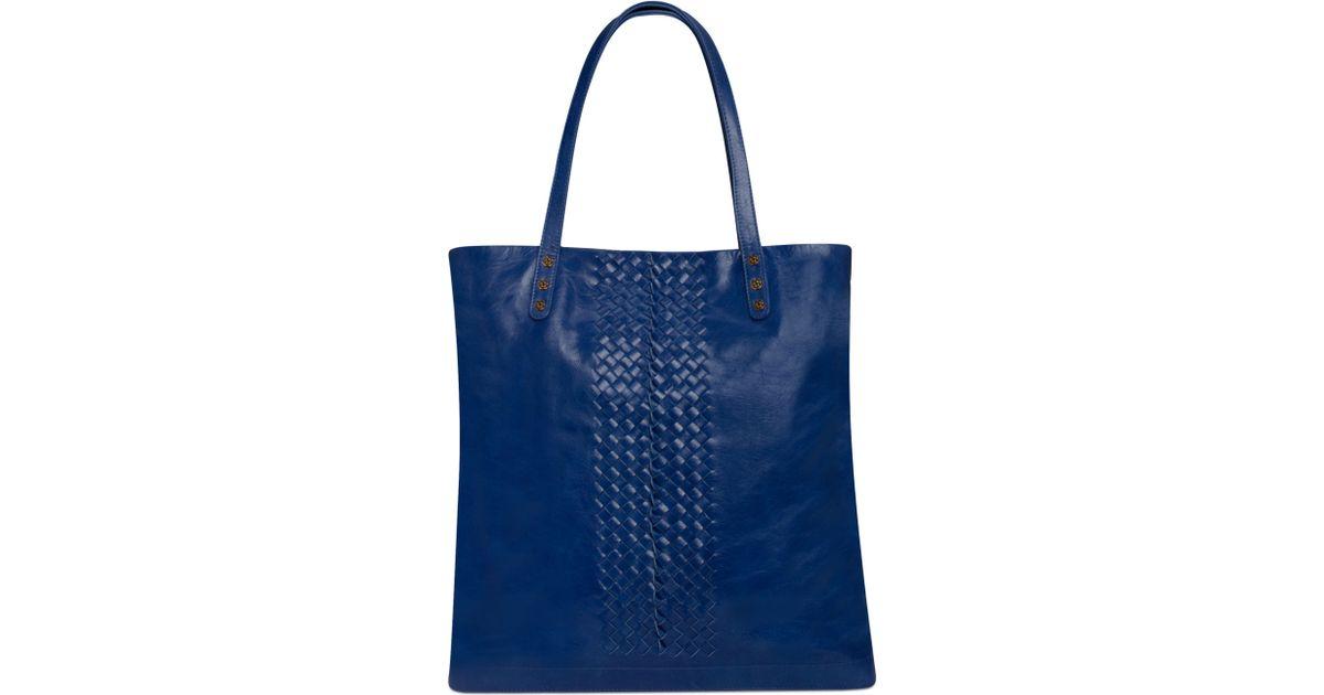 Lyst Elliott Lucca Elliot Handbag Marcela Leather North South Tote In Blue