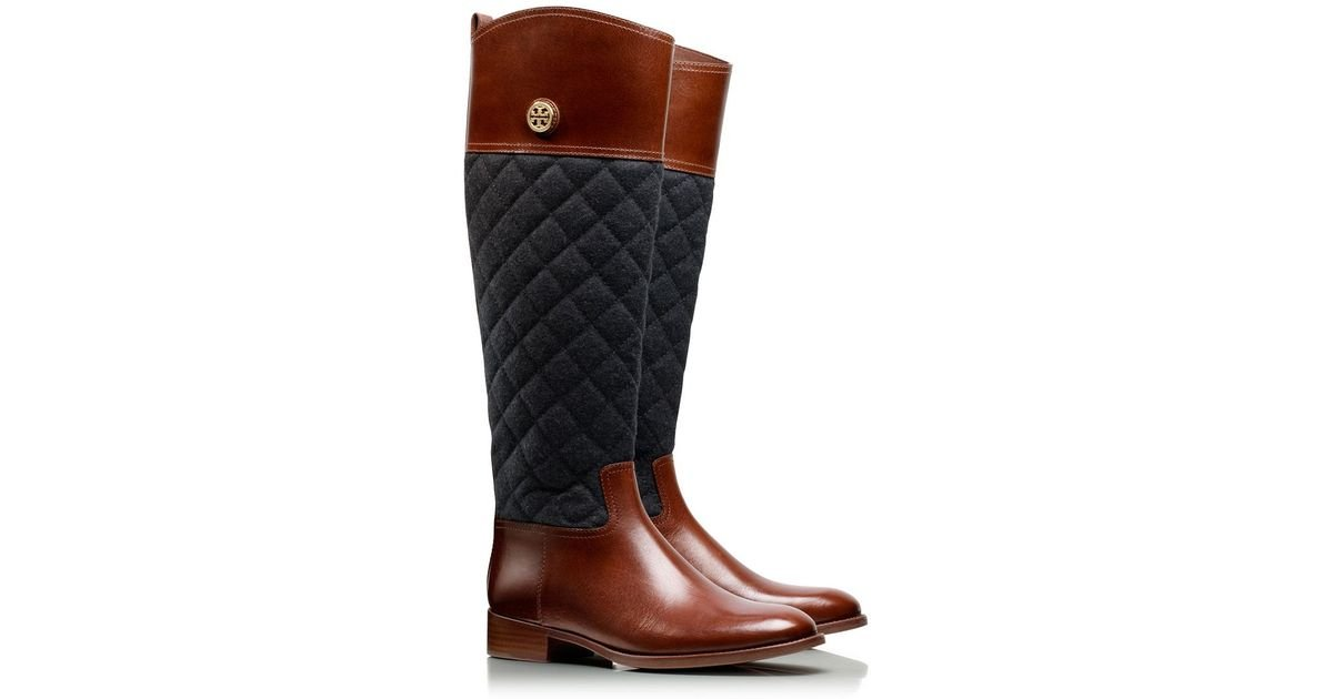 ba7df879bb7 Tory Burch Rosalie Riding Boot in Brown - Lyst