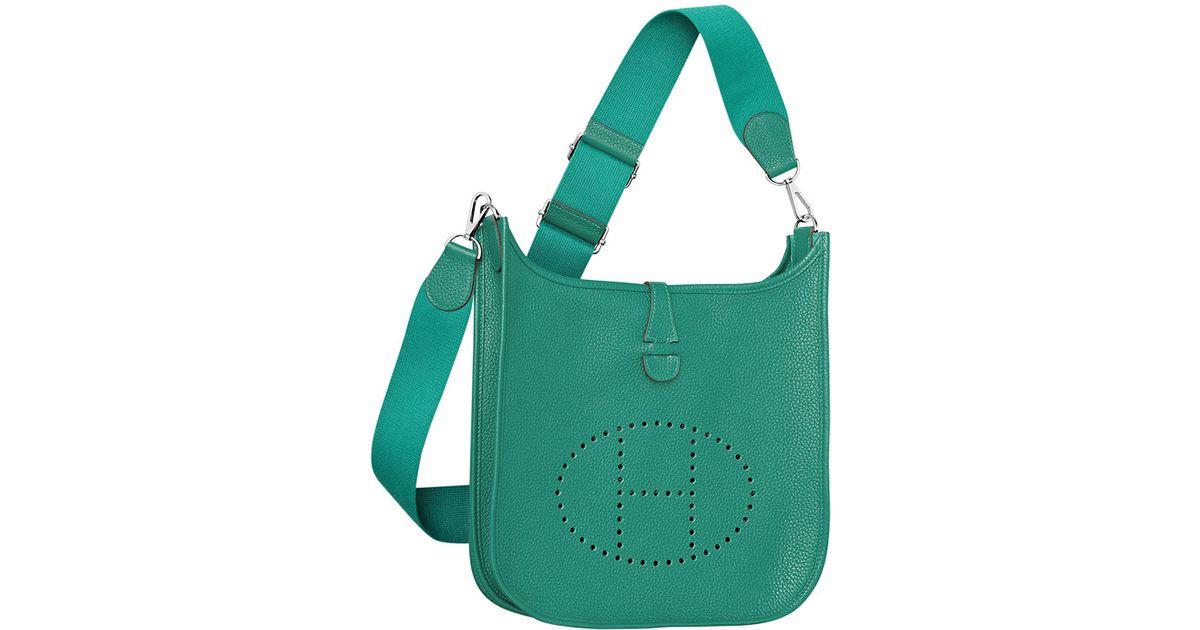 replica hermes kelly bag - Herm��s Evelyne Bag in Green (lightpink)   Lyst