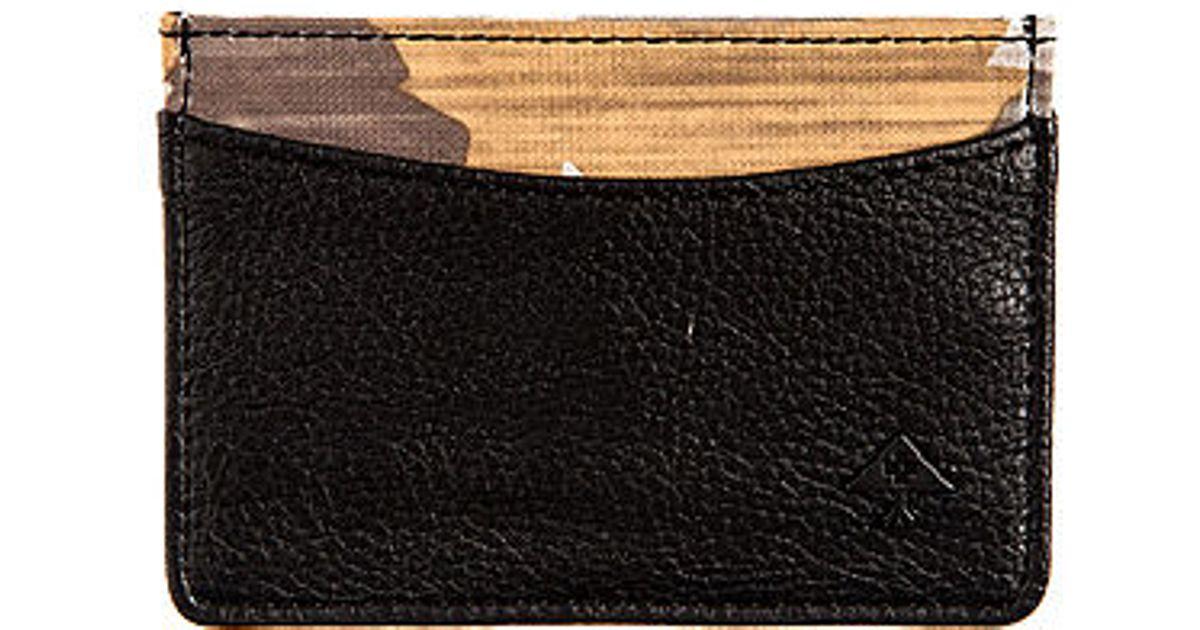 Lyst Lrg The Woodgrain Camo Wallet In Black For Men