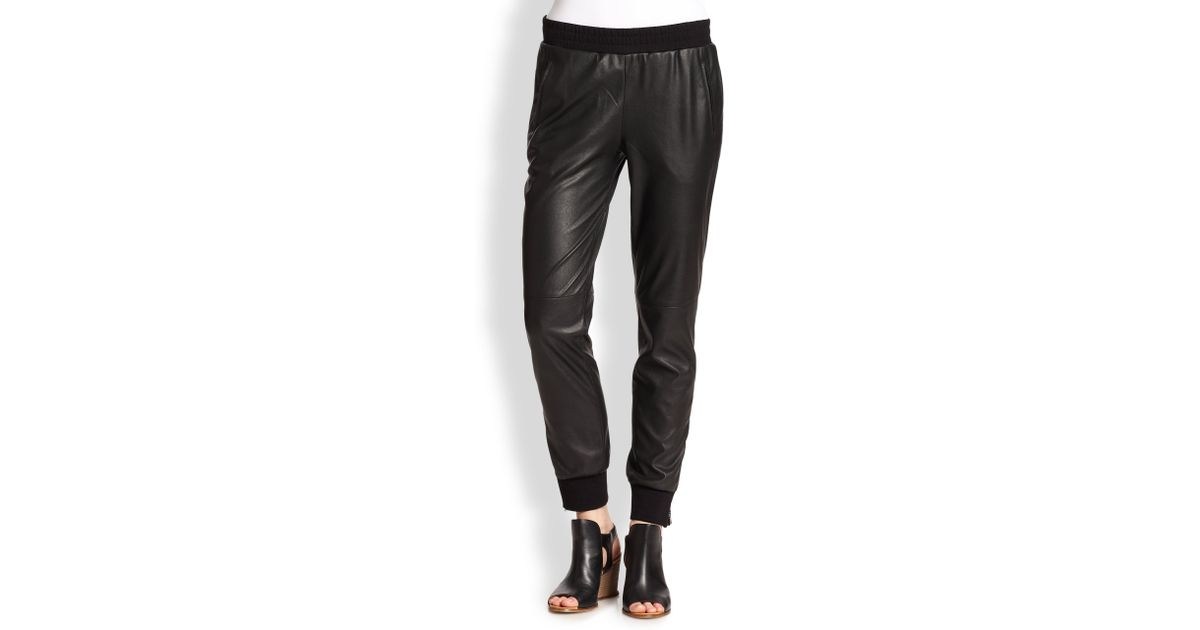 7f9b6e6d5d1b37 BCBGMAXAZRIA Relaxed Faux Leather Pants in Black - Lyst
