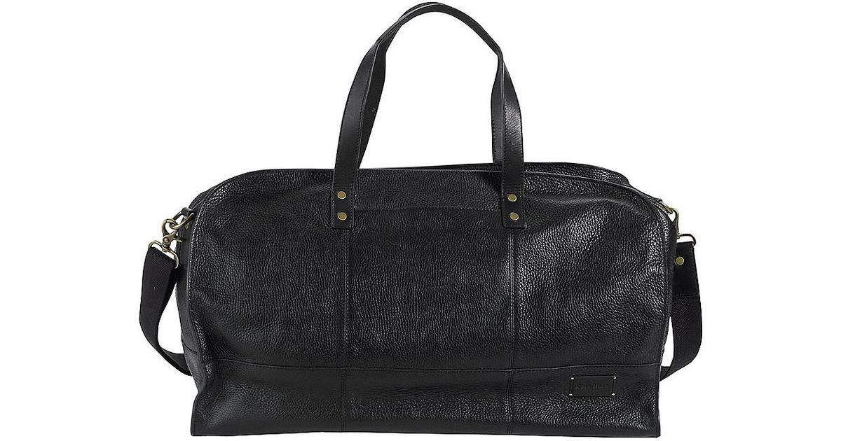 Lyst - Cole Haan Greenwich Collection Leather Duffel Bag in Black for Men f0e92eef0b6a9
