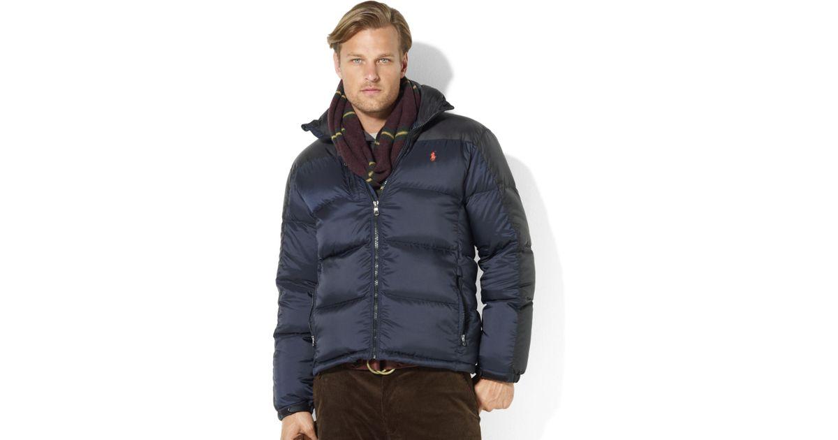 b6ea3aac19b Lyst - Ralph Lauren Snow Polo Core Trek Down Jacket in Blue for Men